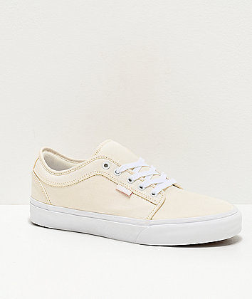 Vans Chukka Low Pro Marshmallow & True White Skate Shoes