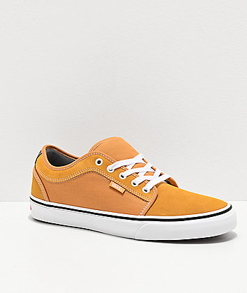 Vans Chukka Low Pro Oak Buff & White Skate Shoes