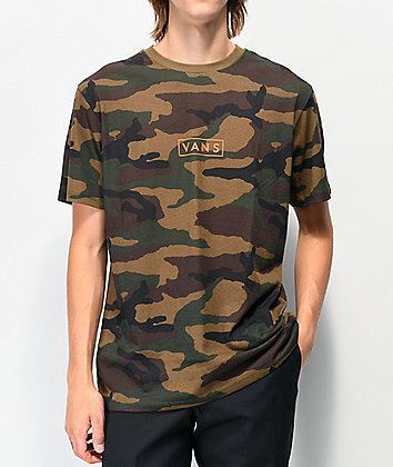 Vans Easy Box Camo & Orange T-Shirt