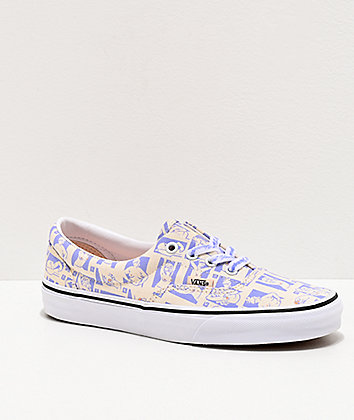 Vans Era Breast Cancer Awareness Blue & Marshmallow Skate Shoes