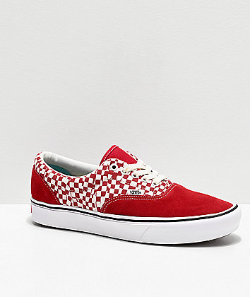 Vans Era ComfyCush Tear Red & White Skate Shoes