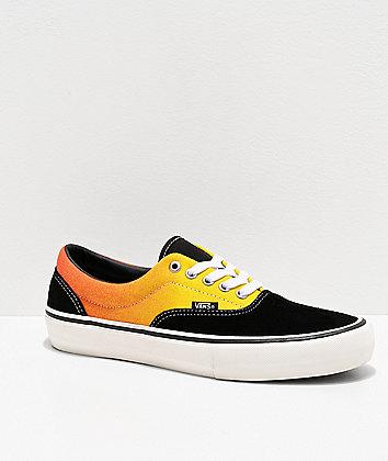 Vans Era Pro Black & Fade Orange Skate Shoes