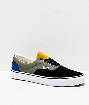 Vans Era Rally Black, Green & Yellow Skate Shoes