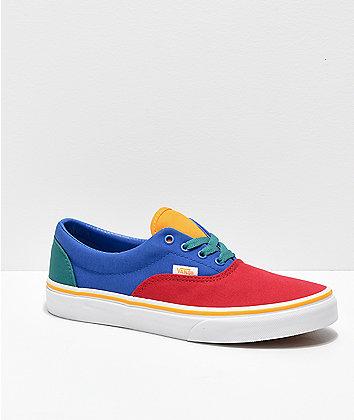 Vans Era Red, Blue & Yellow Skate Shoes