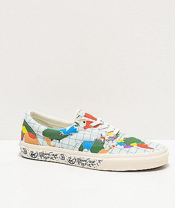 Vans Era Save Our Planet Marshmallow & Multicolor Skate Shoes