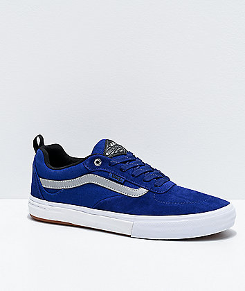 Vans Kyle Walker Reflective Silver, Blue & White Skate Shoes