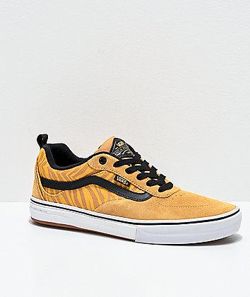 Vans Kyle Walker Reflective Tiger Stripe & Black Skate Shoes