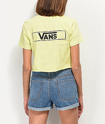 Vans Lime Stage Crew Crop T-Shirt