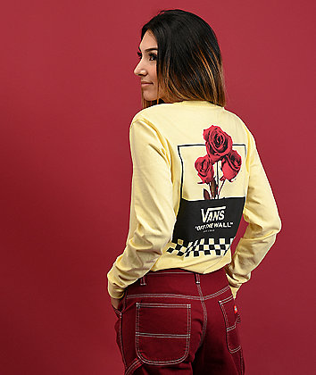 Vans Off The Roses Cream Long Sleeve T-Shirt