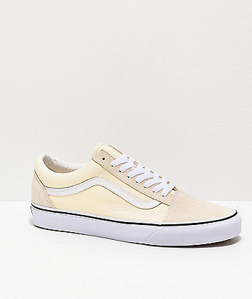 Vans Old Skool Classic White & True White Skate Shoes