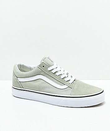 Vans Old Skool Desert Sage & True White Skate Shoes