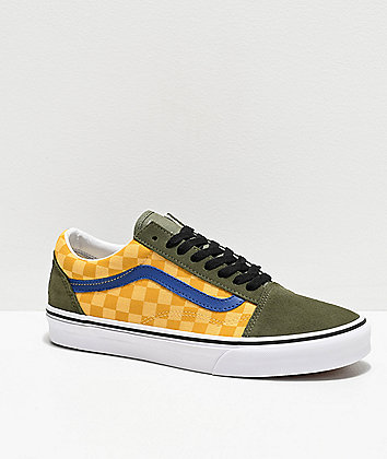 Vans Old Skool OTW Rally Multicolor Checkerboard & Green Skate Shoes