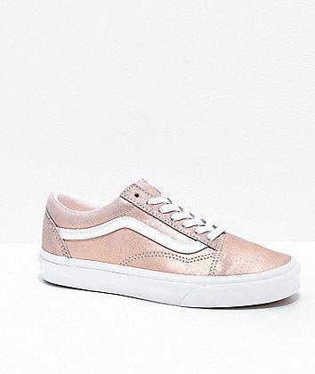 Vans Old Skool Rose Gold Skate Shoes