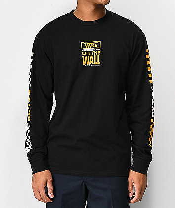 Vans Pacific Black Long Sleeve T-Shirt
