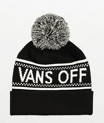 Vans Pep Rally Black & Grey Pom Beanie