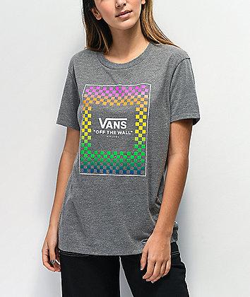 Vans Rainbow Box Grey T-Shirt
