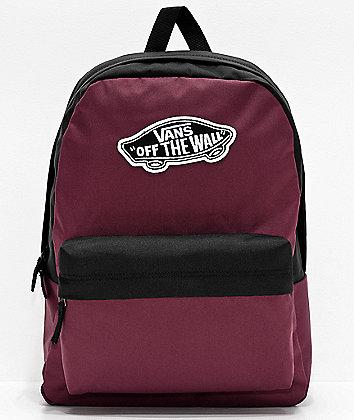 Vans Realm Prune & Black Backpack