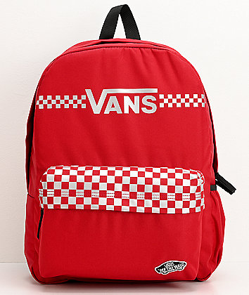 Vans Realm Street Sport Red & Silver Backpack