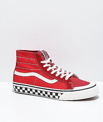 Vans Sk8-Hi 138 Decon SF Red & Marshmallow Skate Shoes