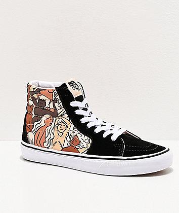 Vans Sk8-Hi Breast Cancer Awareness Black & White Skate Shoes