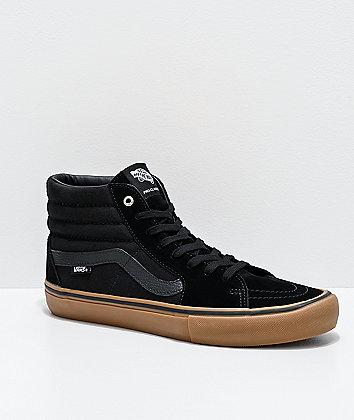 Vans Sk8-Hi Pro Black & Gum Skate Shoes