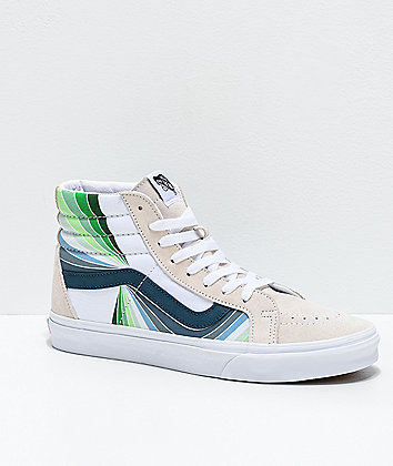 Vans Sk8-Hi Reissue Refract Multi & White Skate Shoes