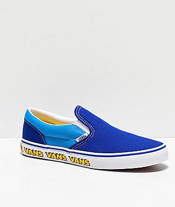 Vans Slip-On Arcade Blue Skate Shoes