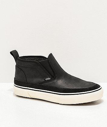 Vans Slip-On Mid MTE Black & White Shoes