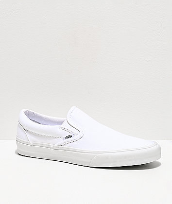 Vans Slip-On Monochromatic True White Skate Shoes