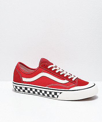 Vans Style 36 Decon SF Red & Marshmallow Skate Shoes