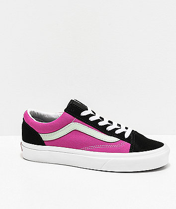 Vans Style 36 Vintage Sport Fuchsia & Black Skate Shoes
