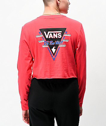 Vans Suma Time Berry Crop Long Sleeve T-Shirt