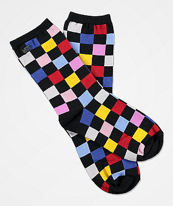 Vans Ticker Multicheck Crew Socks