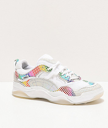 Vans Varix WC Glory Check White & Multicolor Skate Shoes