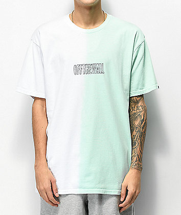 Vans White & Mint Green Split Dyed T-Shirt