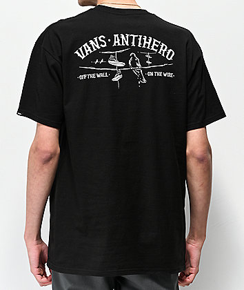 Vans x Anti-Hero On The Wire Black T-Shirt