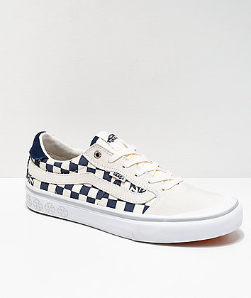 Vans x Indy Style 112 Blu & Wht Checker Shoes