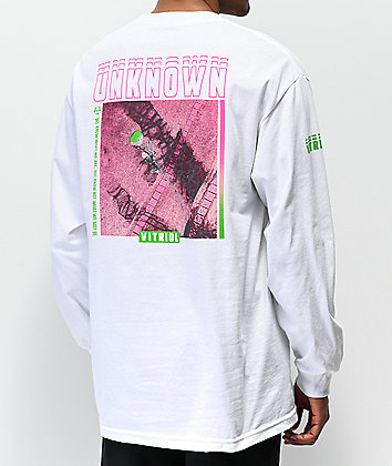 Vitriol Unknown White Long Sleeve T-Shirt