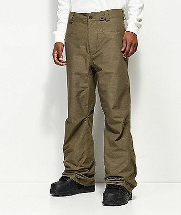 Volcom Carbon Teak Grey 10K Snowboard Pants