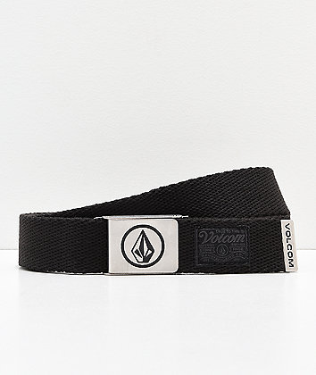 Volcom Circle Black Web Belt