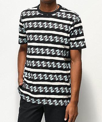 Volcom Flavor Savor Black & White T-Shirt