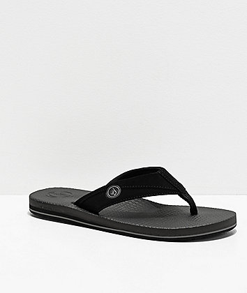 Volcom Lounger Black Sandals