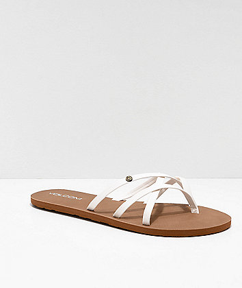 Volcom New School White Strappy Sandals