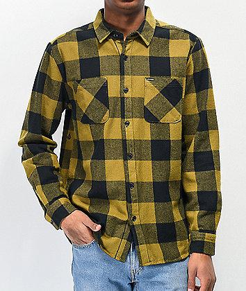 Volcom Shade Stone Green Plaid Flannel Shirt