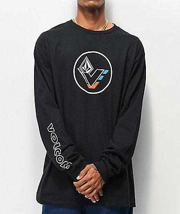 Volcom V-Line Basic Black Long Sleeve T-Shirt