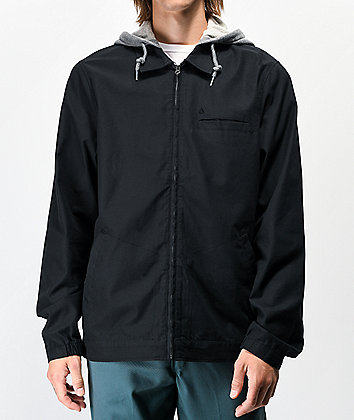 Volcom Warren Black Hooded Jacket