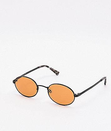 Von Zipper Scenario Black Satin Amber Sunglasses