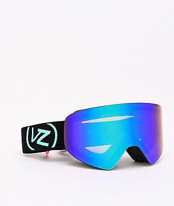 VonZipper Encore Neon Miami Black Satin & Quasar Chrome Snowboard Goggles