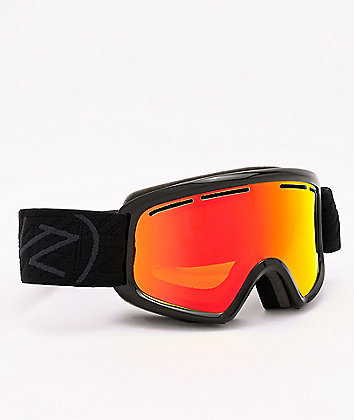 VonZipper Youth Trike Black Satin & Fire Chrome Snowboard Goggles