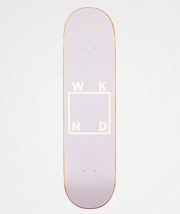 "WKND Lavender Logo 7.75"" Skateboard Deck"